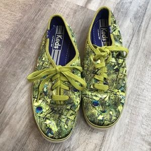 Keds Peacock Feather Print Sneakers Rare Size 6